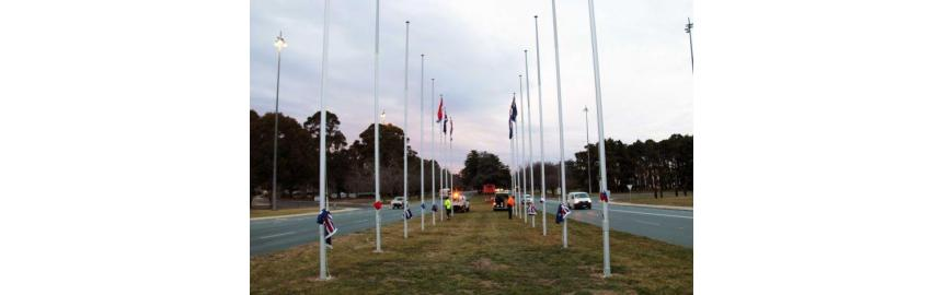 It's a Flag World in Canberra!