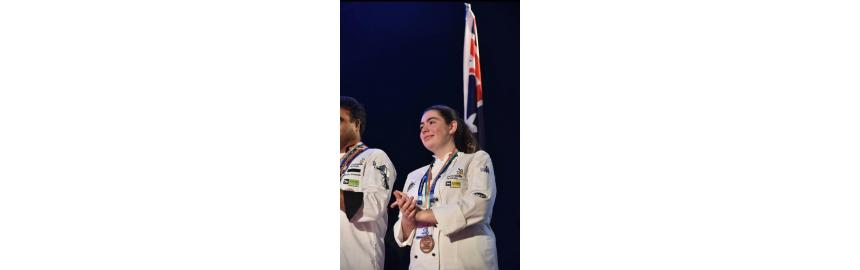 Emma Cook and the Australian Flag