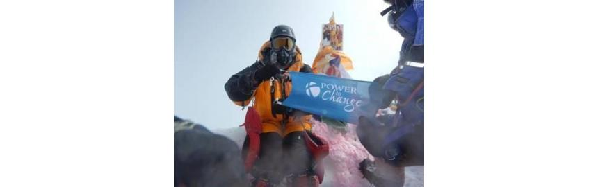 Flags at the Everest Summit