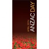 Anzac Day Flag - Poppies on Dark Background (35)