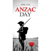 ANZAC Day Flag - Solider with Red Poppy (42)