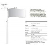7m Flagpole with Internal Halyard