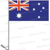 Australian Auto Flag (hemmed) and heavy duty window pole