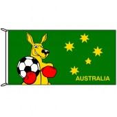 Fighting Kangaroo with Football Flag