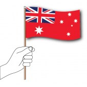 Red Ensign Handwaver  Hand Flag