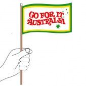 Go For It Australia Hand Flag Handwaver
