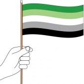 Aromantic Handwaver Flag 300mm x 150mm