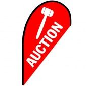 Auction Small Teardrop Flag