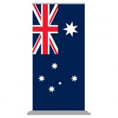 Australian National Flag 1000mm x 2000m (Pull Up Banner) with a Deluxe Base