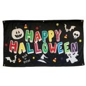 Halloween Black Flag with Eyelets