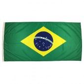 Brazil Flag 1800mm x 900mm (Fully Sewn, Vertical Sleeve)