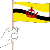 Brunei Hand Flag Handwaver