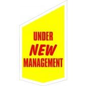 Under New Management Shop Front Banner 420mm x 720mm  (Vinyl)