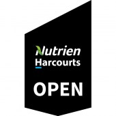 Nutrien Harcourts Open Shop Front Banner Black