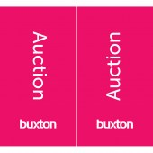 Buxton Pink Auction Flag 600mm x 1100mm