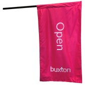 Buxton Pink Open Signboard Flag