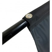 Black Metal Pole with Pop Rivet (flag not included)