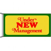 Under New Management Flag 1800mm x 900mm (Knitted)