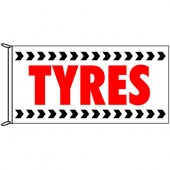 Tyres Flag 1800mm x 900mm (Knitted)
