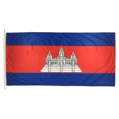 Cambodia Flag 1800mm x 900mm (Knitted)