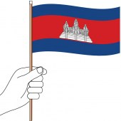 Cambodia Hand Flag Handwaver