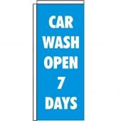 Car Wash Window Pole Flag