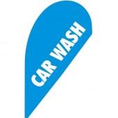 Car Wash Small Tear Drop Flag