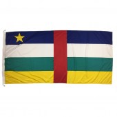 Central African Republic flag 1800mm x 900mm (Knitted)