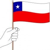 Chile Hand Flag Handwaver