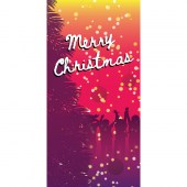 Merry Christmas Pink Purple Vertical
