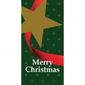 Merry Flag Green with Star Horizontal
