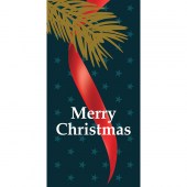 Merry Christmas Flag Branch Tree Branch Blue