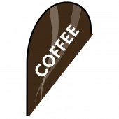 Coffee Small Brown Teardrop Flag