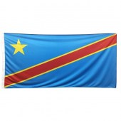 Congo Democratic Flag 1800mm x900mm (Knitted)
