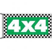 4x4 Chq Border Flag