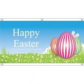 appy Easter Flag 3 Eggs- Eyelet Finish 1500mm x 750mm