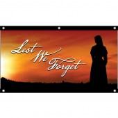 Lest We Forget Flag Nurse Sunset Background - Eyelet Finish