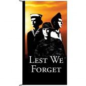 Lest We Forget Tri Services Vertical Eyelet Flag