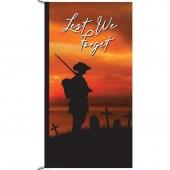 Lest We Forget Solider sunset Background Vertical Eyelet Flag
