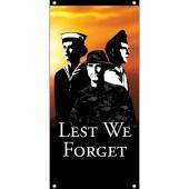 Tri Services Lest We Forget Vertical Flag Eyelet Finish