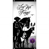 Lest We Forget Animals Vertical Flag Eyelet Finish