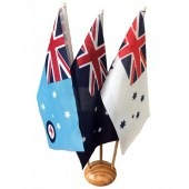 Australian Defence Desk Flag Set 300mm x 150mm