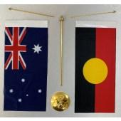 Australian Aboriginal Metal Base Desk Set
