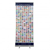 Flags of the World Pull Up Banner.