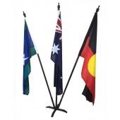 Australian, Aboriginal, TSI Foyer Display with metal base