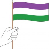 Gender Queer Handwaver Flag - 300mm x 150mm