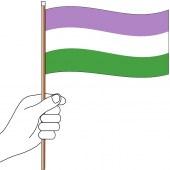 Gender Queer Handwaver Flag - 300mm x 150mm