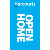 Harcourts Open Home Cyan Signboard Flag