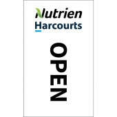 Nutrien Harcourts Open (2020) White Flag 1800mm x 900mm