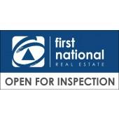 First National Reverse Logo Open Inspection